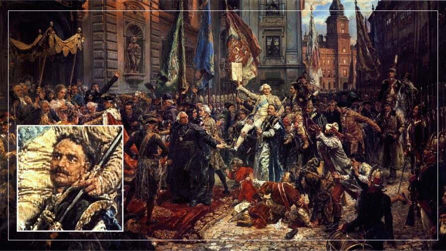 "Aleksander Linowski na obrazie Matejki ""Konstytucja 3 Maja 1791 roku""."