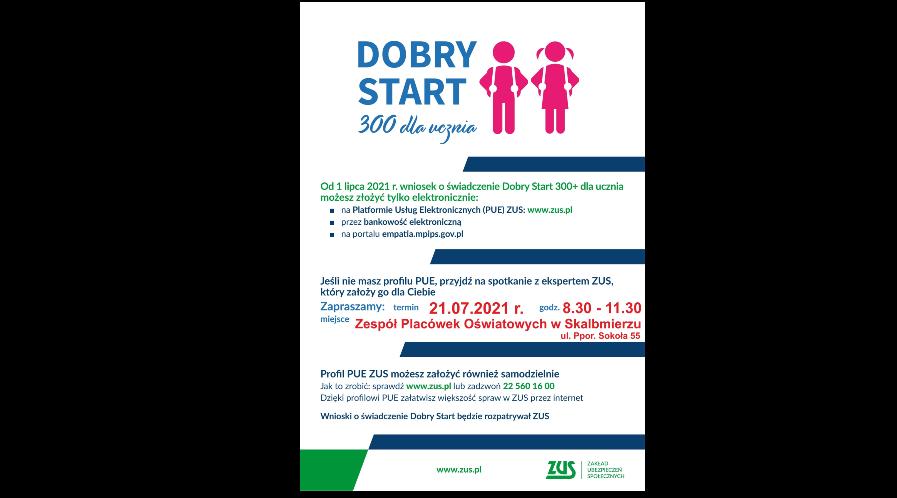 """Program """"Dobry Start 300+"""" – spotkanie z ekspertem ZUS"""